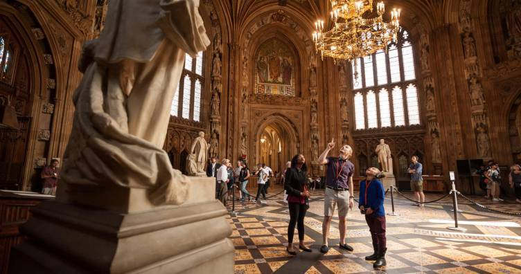 Free guided tours of the Houses of Parliament for UK residents